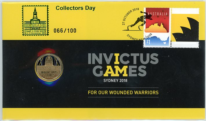 Thumbnail for 2018 Issue 22 Invictus Games - Brisbane Stamp & Coin Show Issue