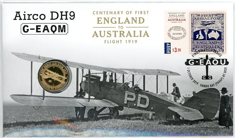 Thumbnail for 2019 Centenary of First England to Australia Airco DH9 G-EAQM