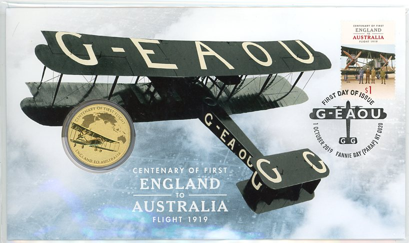 Thumbnail for 2019 Centenary of First England to Australia Perth Mint PNC