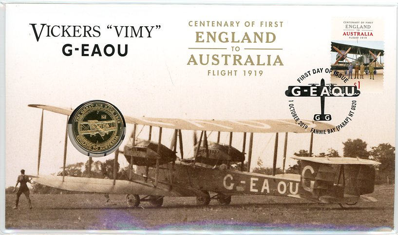 Thumbnail for 2019 Centenary of First England to Australia Vickers Vimy G-EAOU