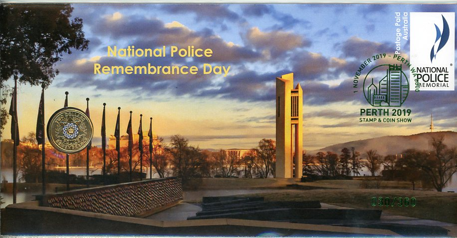 Thumbnail for 2019 Set of Three National Police Remembrance Day PNC - Perth Stamp & Coin Show