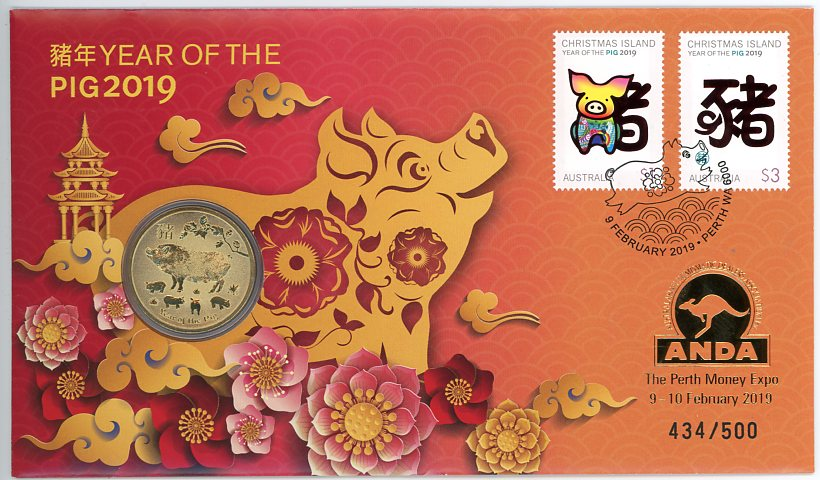 Thumbnail for 2019 Issue 01 Year of the Pig - ANDA Only 500 Issued