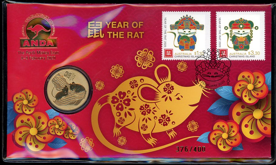 Thumbnail for 2020 Year of the Rat Limited Edition ANDA Perth Money Expo PNC