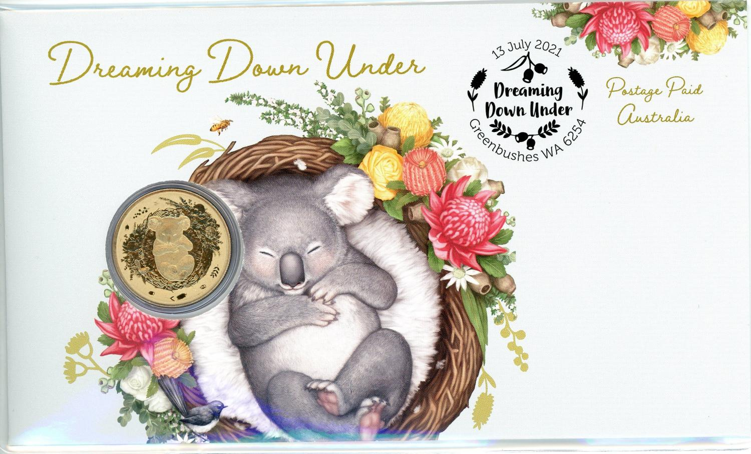 Thumbnail for 2021 Issue 29 - Dreaming Down Under  - Koala PNC with Perth Mint $1