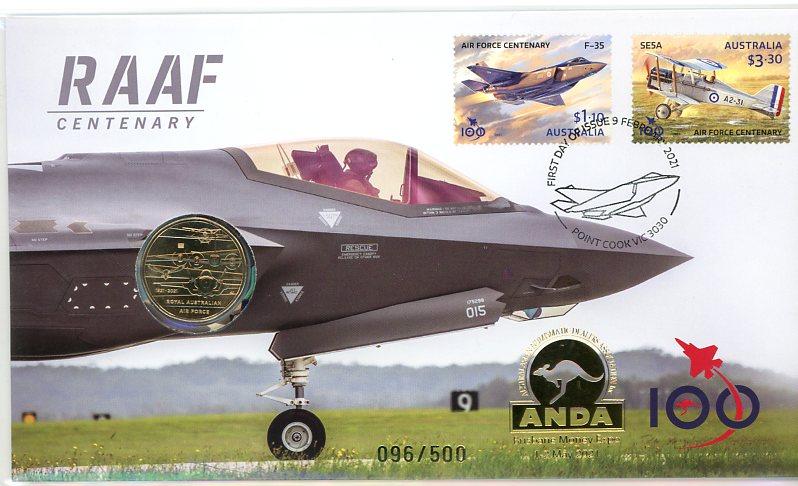 Thumbnail for 2021 Issue 10 Centenary RAAF Brisbane ANDA Money Expo PNC