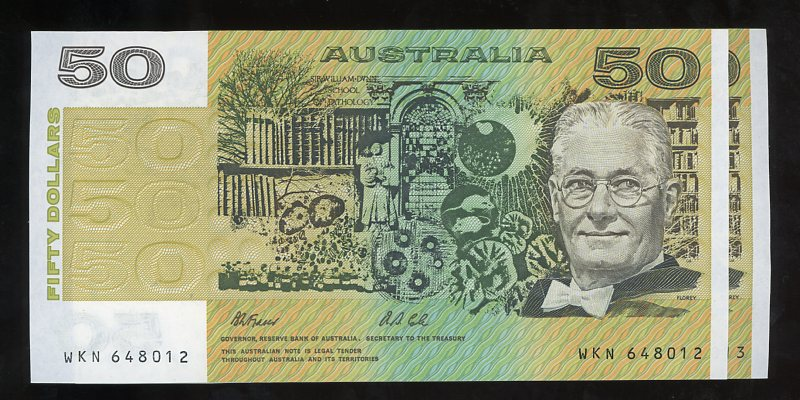 Thumbnail for Pair 1991 $50 Notes WKN 648102-13 aUNC