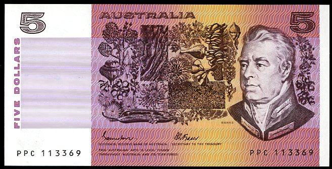 Thumbnail for 1985 $5 Johnston-Fraser OCRB PPC 113369 UNC