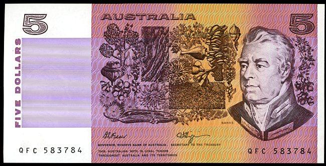 Thumbnail for 1990 $5 Fraser-Higgins QFC 583784 UNC