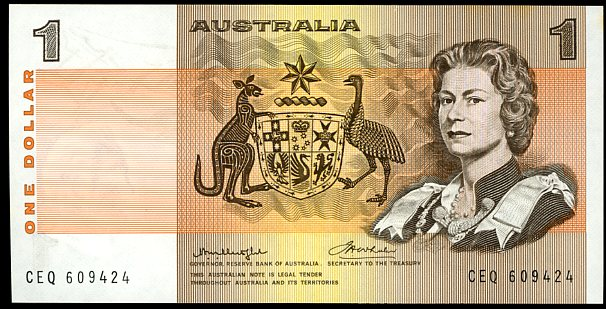 Thumbnail for 1976 $1 Knight-Stone Centre Thread CEQ 609424 UNC