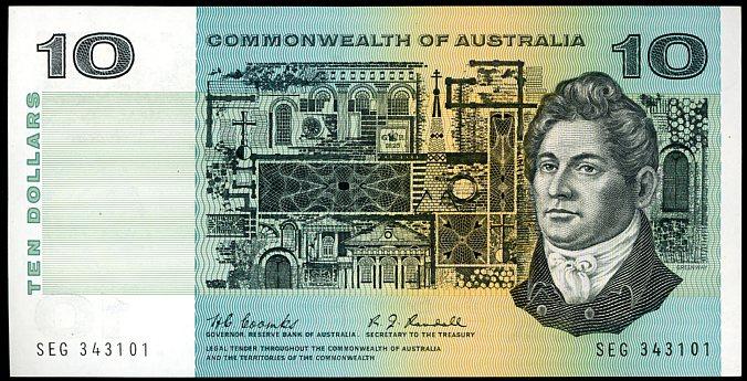 Thumbnail for 1967 $10 Coombs-Randall SEG 343101 aUNC