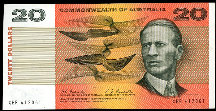Thumbnail for 1967 $20 Coombs-Randall XBR 412061 gEF