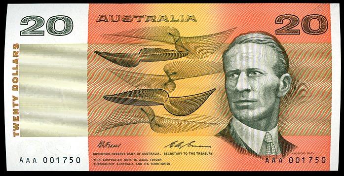 Thumbnail for 1993 $20 Fraser-Evans AAA 001750 aUNC