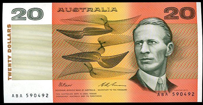 Thumbnail for 1993 $20 Fraser-Evans ABA 590492 aUNC