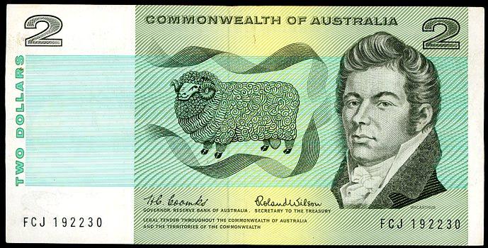 Thumbnail for 1966 $2 Coombs-Wilson FCJ 192230 VF