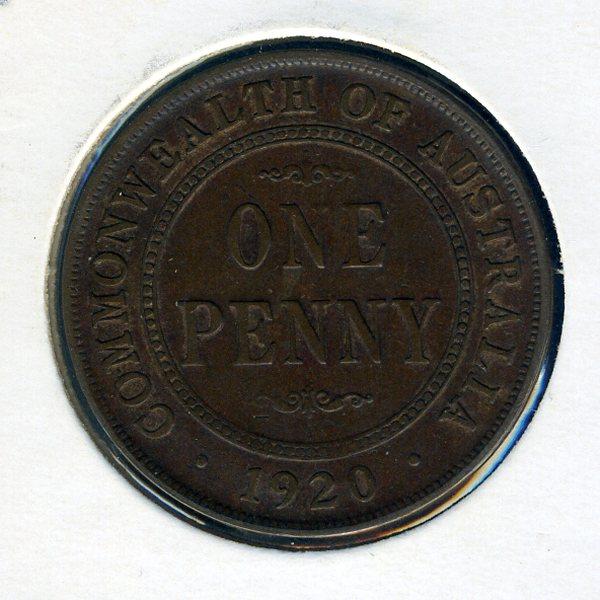 Thumbnail for 1920 Australian Penny - Fine