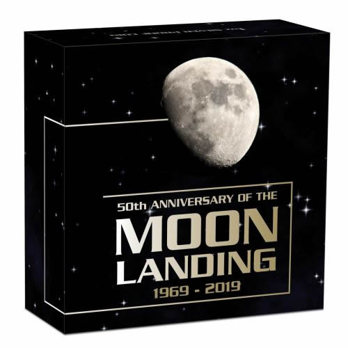 Thumbnail for 2019 10z Silver Proof Coin 50th Anniversary of the Moon Landing