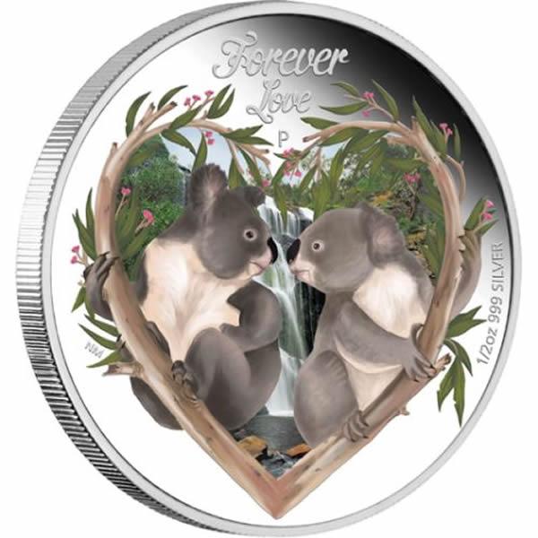 Thumbnail for 2012 Tuvalu Forevelove Half oz Silverproof - Koalas