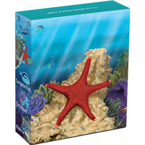 Thumbnail for 2011 Australian Sea Life Half oz Coloured Silverproof - Star Fish