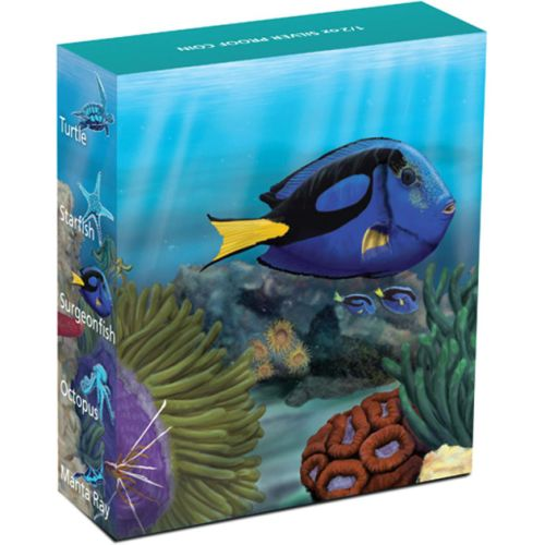 Thumbnail for 2012 Australian Sealife Half oz Coloured Silverproof - Surgeonfish