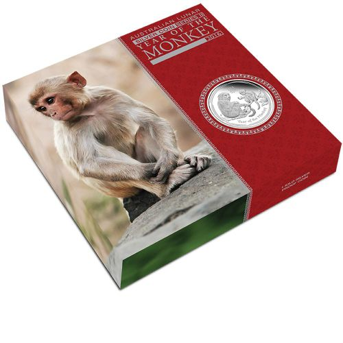 Thumbnail for 2016 Australian 1oz Year of the Monkey Proof