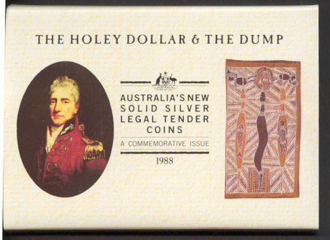 Thumbnail for 1988 Holey Dollar & Dump 1.25 oz Silver