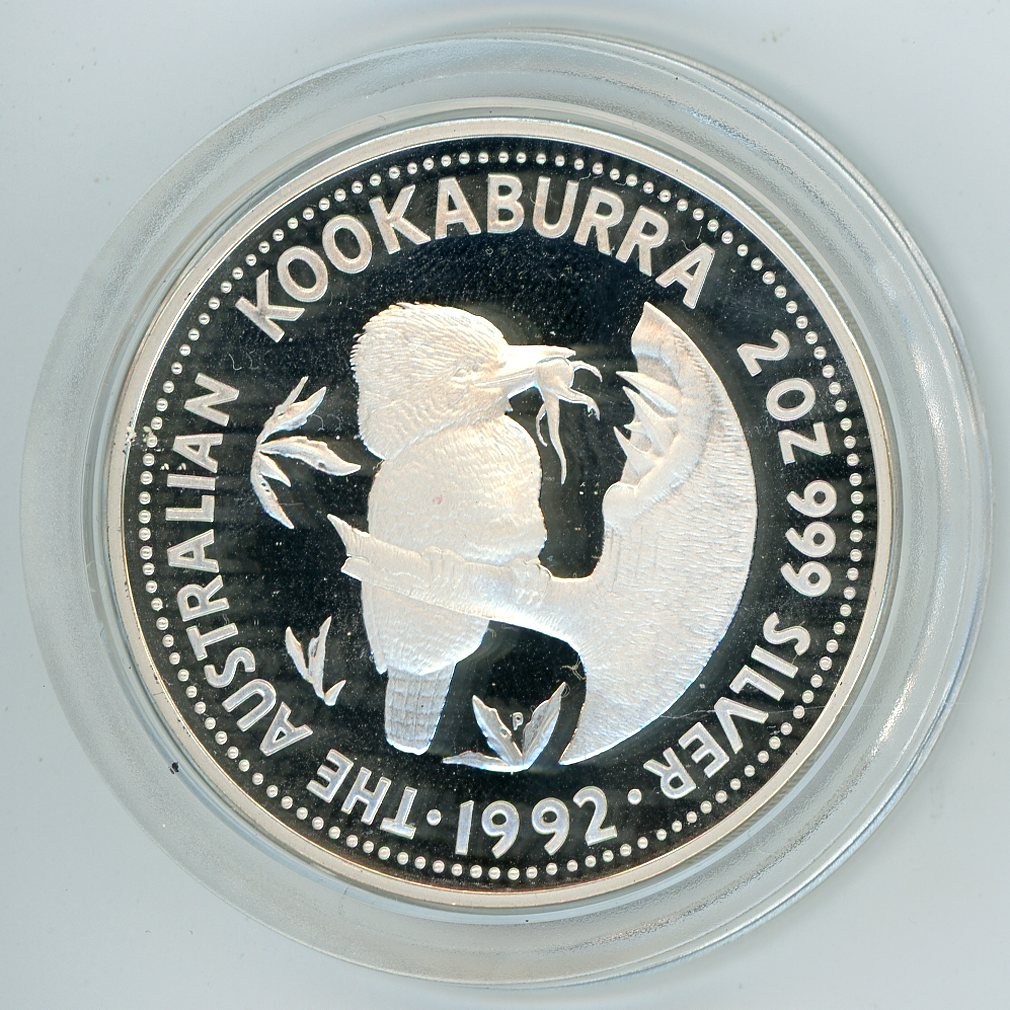 Thumbnail for 1992 Two Ounce Proof Kookaburra