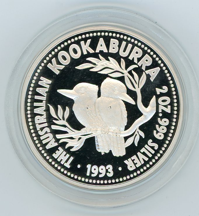 Thumbnail for 1993 2oz Kookaburra Proof