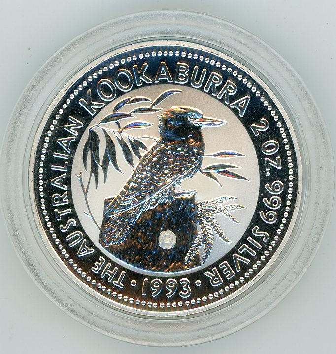 Thumbnail for 1993 2oz Kookaburra with Dump Privy Mark