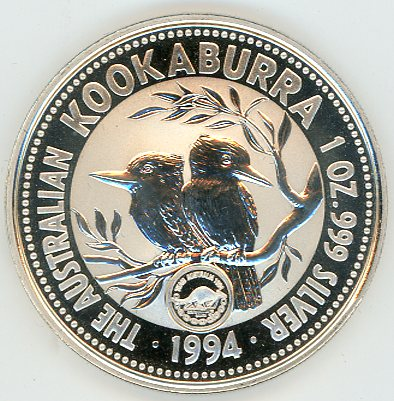 Thumbnail for 1994 1oz Kookaburra with Commonwealth Games Privy Mark