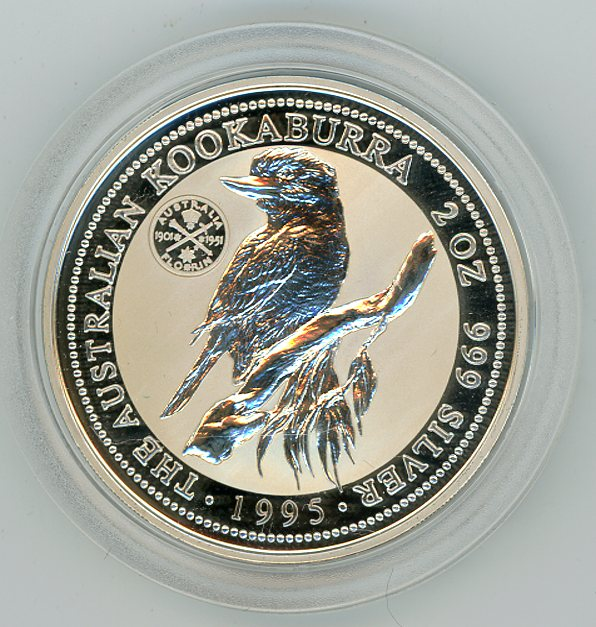 Thumbnail for 1995 2oz Kookaburra Specimen with Jubilee Florin Privy