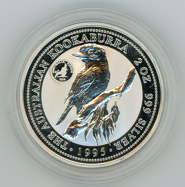 Thumbnail for 1995 2oz Kookaburra with Royal Visit Florin Privy Mark