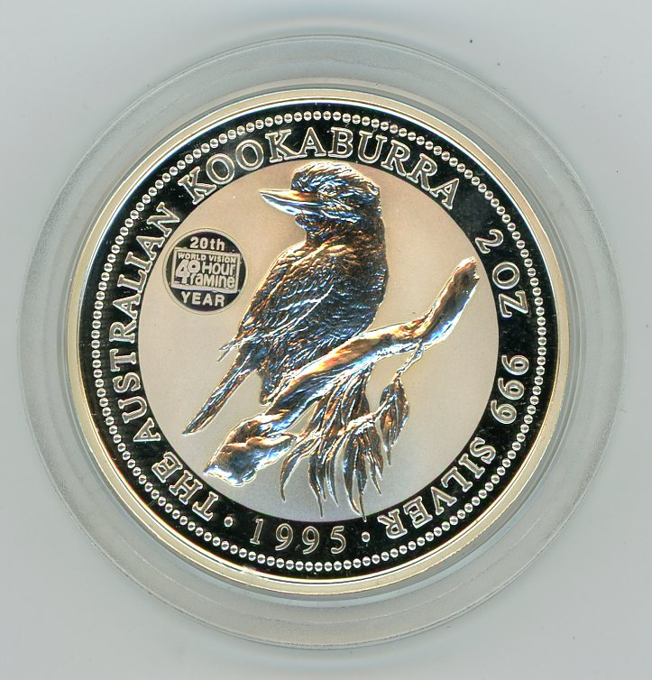 Thumbnail for 1995 2oz Kookaburra Specimen with 40 Hour Famine Privy
