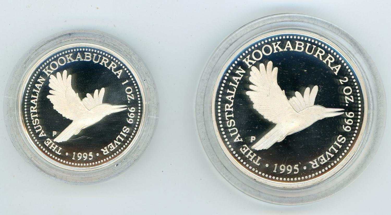 Thumbnail for 1995 2oz Silver Kookaburra Collection - Set No 1