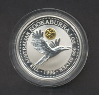 Thumbnail for 1996 Australian 1oz Silver Coin Kookaburra - Panda Privy Mark