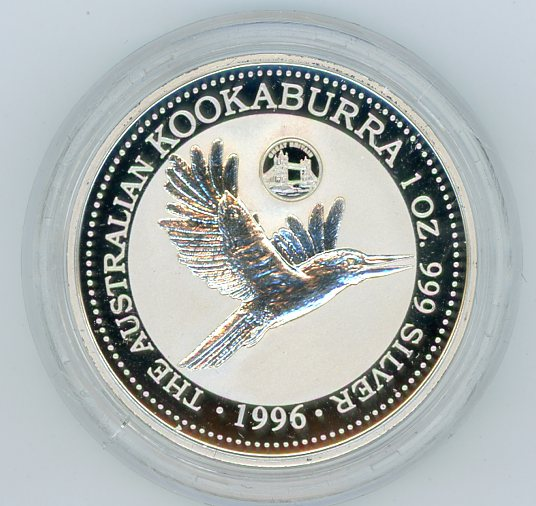 Thumbnail for 1996 1oz Kookaburra European Country Privy Mark Series - Great Britain