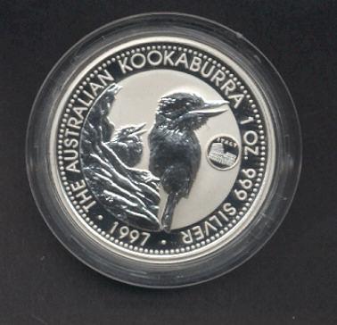 Thumbnail for 1997 1oz Kookaburra European Country Privy Mark Series - Italy