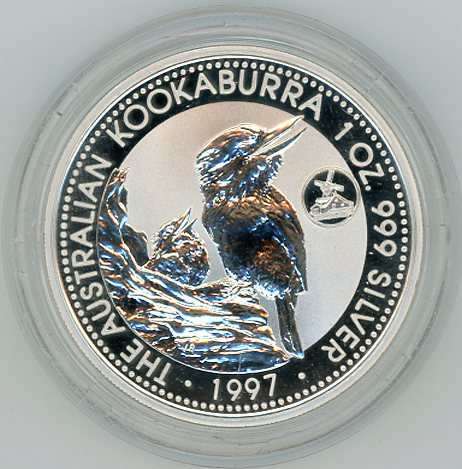 Thumbnail for 1997 1oz Kookaburra European Country Privy Mark Series - Netherlands