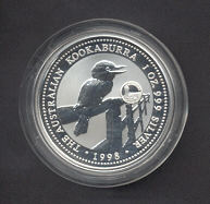 Thumbnail for 1998 1oz Kookaburra European Country Privy Mark Series - Luxembourg