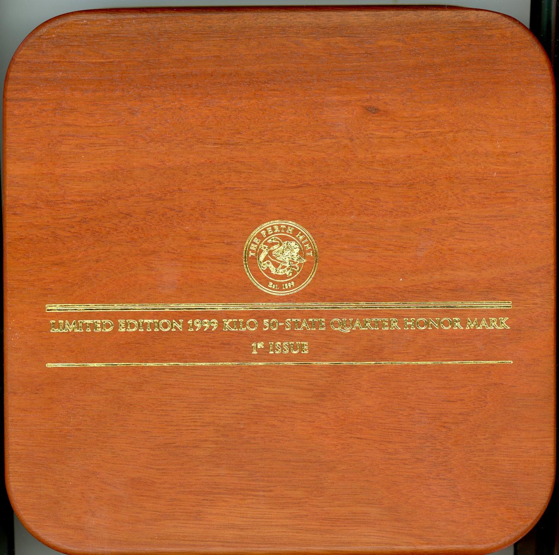 Thumbnail for 1999 One Kilo Australian Kookaburra Honor Mark Coin - US State Quarters