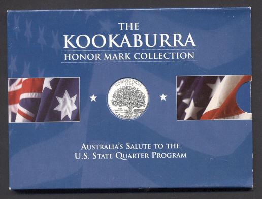 Thumbnail for 1999 1oz Kookaburra Honor Mark Collection - Connecticut