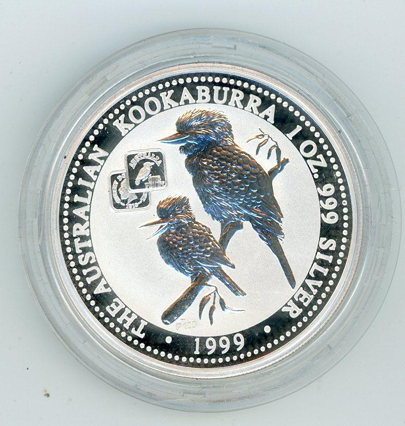 Thumbnail for 1999 1oz Silver Kookaburra - 1919 Square Penny Privy