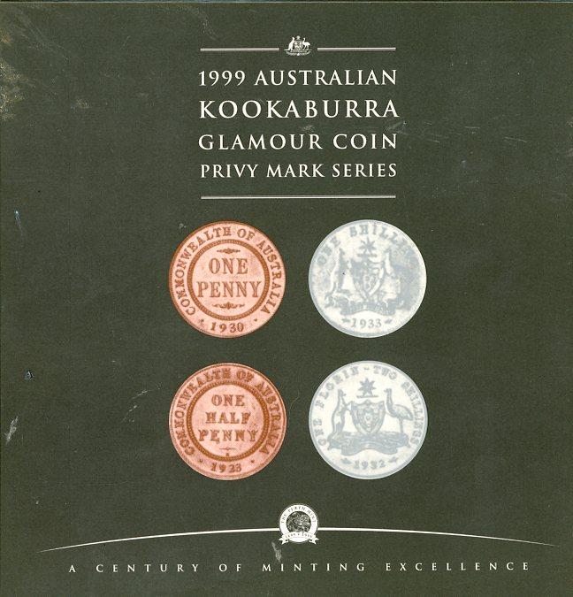 Thumbnail for 1999 2oz Australian Kookaburra Silver Coins - One Penny Privy