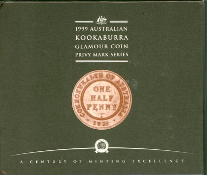 Thumbnail for 1999 2oz Kookaburra with 1923 Halfpenny Privy Mark