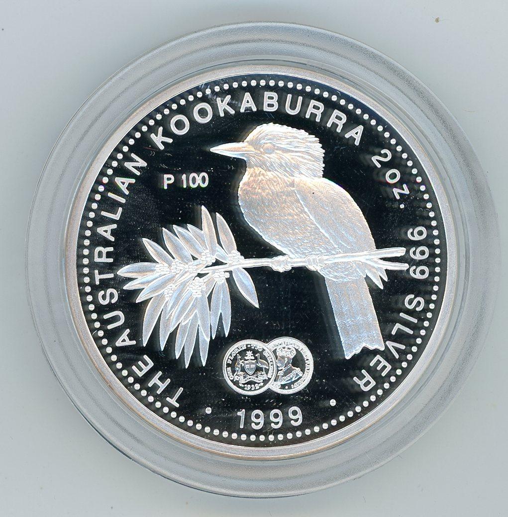 Thumbnail for 1999 2oz Australian Kookaburra Proof - 1932 Florin Privy