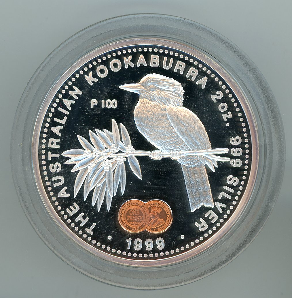 Thumbnail for 1999 2oz Australian Kookaburra Proof - 1930 Penny Privy