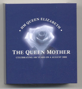 Thumbnail for 2000 Cook Islands 1oz Coloured Silver Dollar - Queen Mother 100 Years