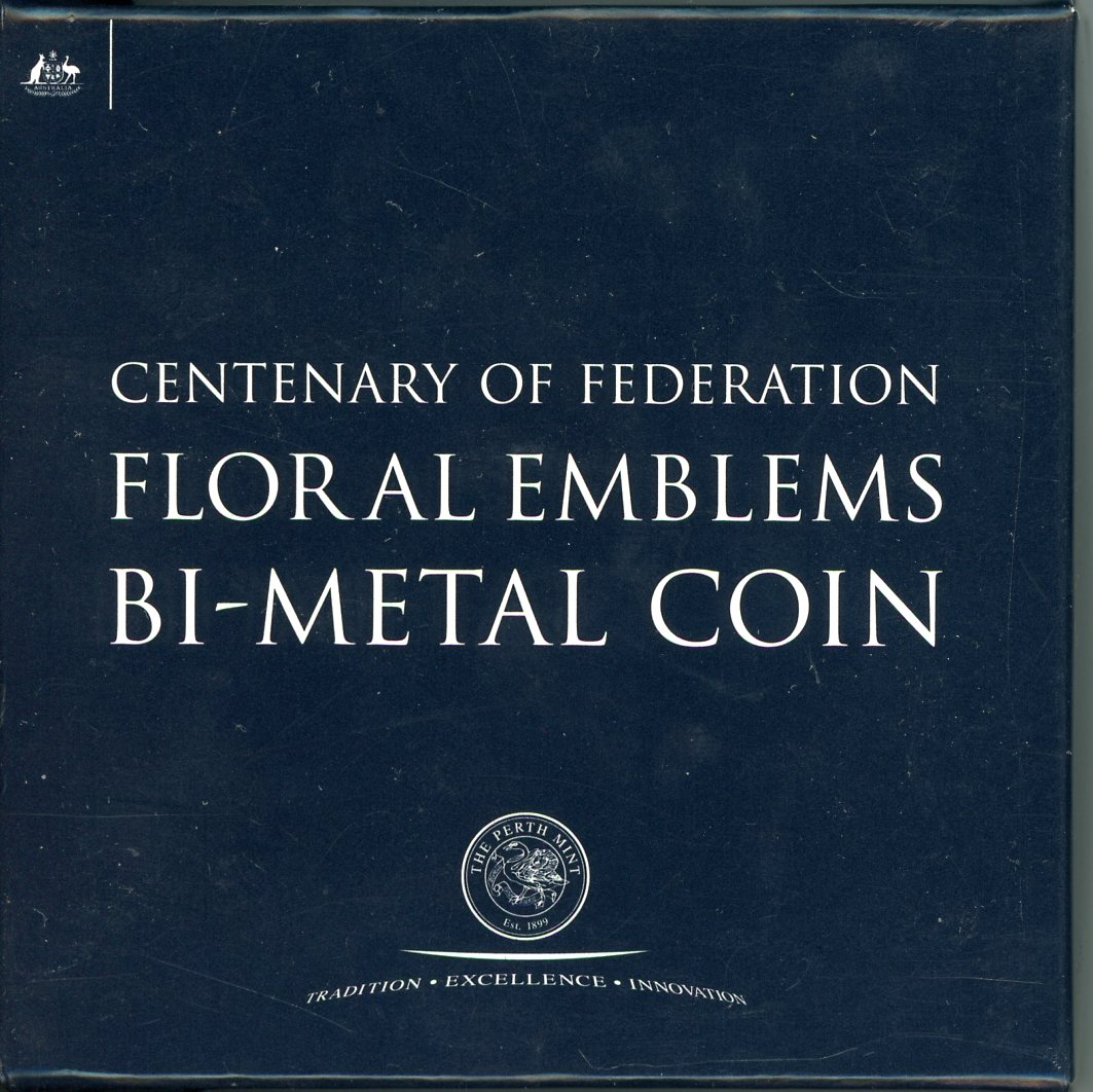 Thumbnail for 2001 Centenary of Federation Floral Emblems Bi-Metal Coin
