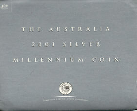 Thumbnail for 2001 Australian Millennium 1oz Coloured Silver Proof