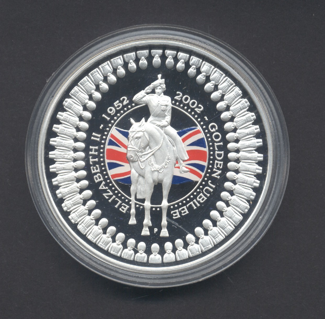 Thumbnail for 2002 Golden Jubilee 1oz Coloured Silver Proof Coin