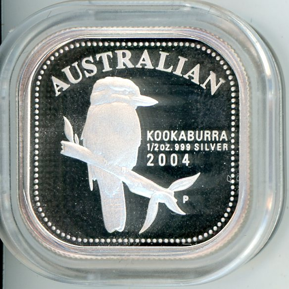 Thumbnail for 2004 Australian Half oz Square Kookaburra Proof